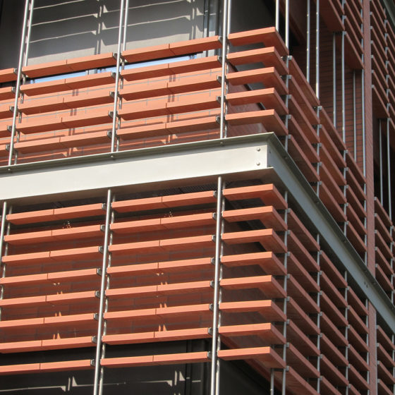 Zonda XL Terracotta Sunscreens Installation Photo